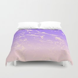 Modern blush pink purple ombre gradient marble pattern Duvet Cover