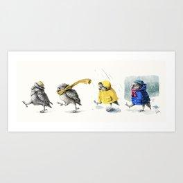 Weather Broadcast Art Print