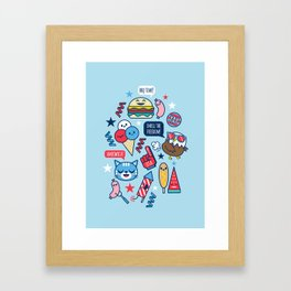 Happy 4th of July! Framed Art Print