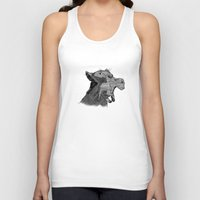 newspaper Tank Tops featuring Newspaper Lions by Doolin