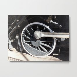 Locomotive 2355 Steam Engine Wheel 1912 Metal Print