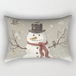 Christmas Snowman  Rectangular Pillow