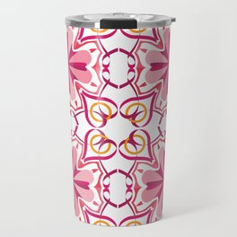 Lyrical Love Mandala Tiled - Pink Gold Travel Mug