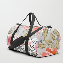 Pattern flowers with triangular shapes Duffle Bag