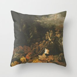 Vincent van Gogh - Still Life with cabbages, potato basket and leaves Throw Pillow