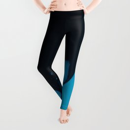 Black and Blue Leggings