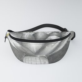 Black and White Water Lily Fanny Pack
