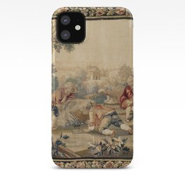 Aubusson  Antique French Tapestry Print iPhone Case