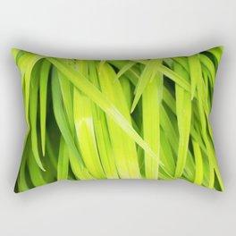 Summer Green Leaves Rectangular Pillow