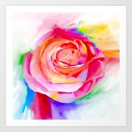 Colourful flower Art Print