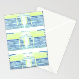 Geometric Background with Client's Logo  Stationery Cards
