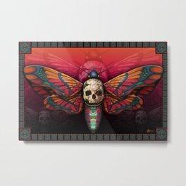 """Death colored moth"" Metal Print"