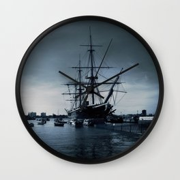 Ship The Warrior HMS 1860 Wall Clock