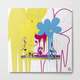 llueve color!! Metal Print