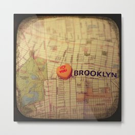 I Love You Brooklyn Metal Print