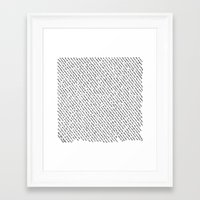 literary Framed Art Prints featuring Literary Quotes by Abstract Graph Designs