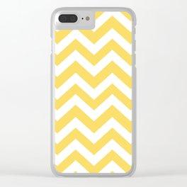 Stil de grain yellow - yellow color - Zigzag Chevron Pattern Clear iPhone Case