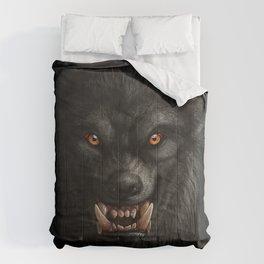 Creepy Art, Halloween, Werewolf, Horror Art Comforters