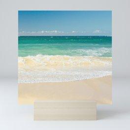 beach blue Mini Art Print