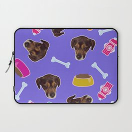 Puppy in the sky with dog bones Laptop Sleeve