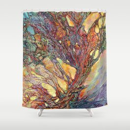 Emerging with Dawn Shower Curtain