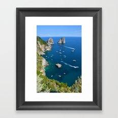 Capri, Faraglioni Framed Art Print