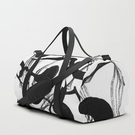 Abstract Black Strokes Duffle Bag