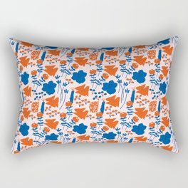 Floral Illustrated Pattern Rectangular Pillow