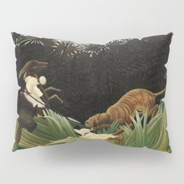 Henri Rousseau - Scouts Attacked by a Tiger Pillow Sham
