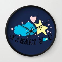 Cloudy Love Wall Clock