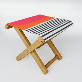 Sunset Ripples Folding Stool