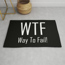WTF Way to Fail - Fun With Text Acronyms - Sarcastic Gifts Rug