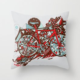 FIX TRIP ~ GREY Throw Pillow