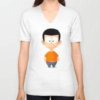 lemon V-neck T-shirts featuring Lemon by Lemon Liu