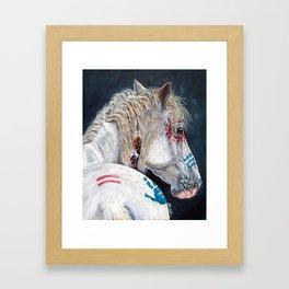 Native American Indian pony Framed Art Print