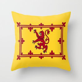 RED LION & YELLOW ROYAL BANNER OF SCOTLAND Throw Pillow
