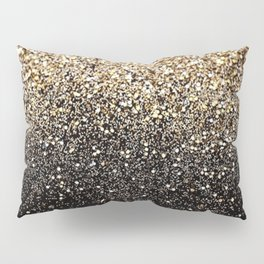 Black & Gold Sparkle Pillow Sham