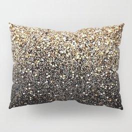Black Royalty Glitter  Pillow Sham