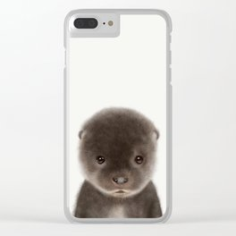 Baby Otter Clear iPhone Case