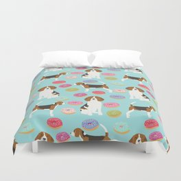 Beagle donuts cute gifts for pure breed dog lover beagles owners Duvet Cover