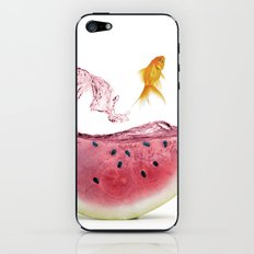 watermelon goldfish iPhone & iPod Skin