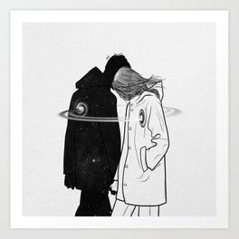 Lost and found. Art Print