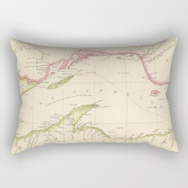 Vintage Map of Lake Superior (1832) Rectangular Pillow