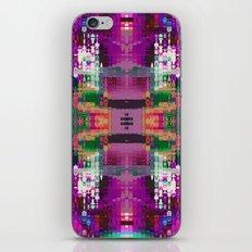 Purple digital patchwork iPhone Skin