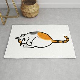 Comfy Calico Cat Rug