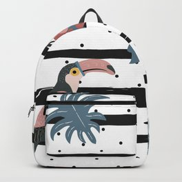 Toucans and Stripes Backpack