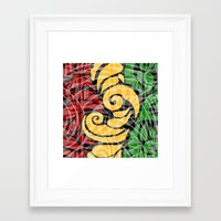 rasta Framed Art Prints featuring Rasta Colors by Lonica Photography & Poly Designs