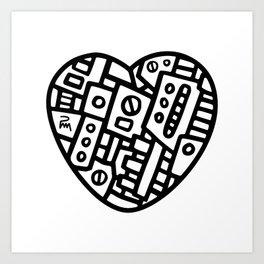 Iron heart (B&W Edition) - PM Art Print