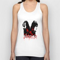 rick grimes Tank Tops featuring Daryl Dixon and Rick Grimes by artandawesome