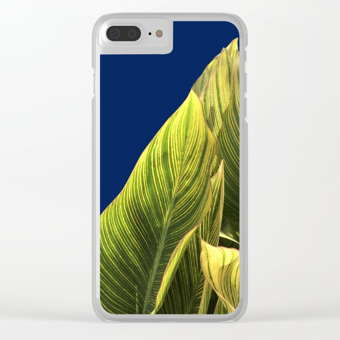 Tropical Lily Leaves Clear iPhone Case